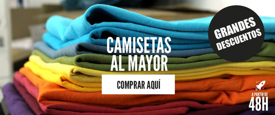 Camisetas al por mayor