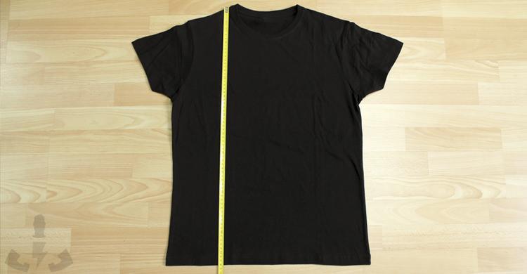 Medir alto de camisetas