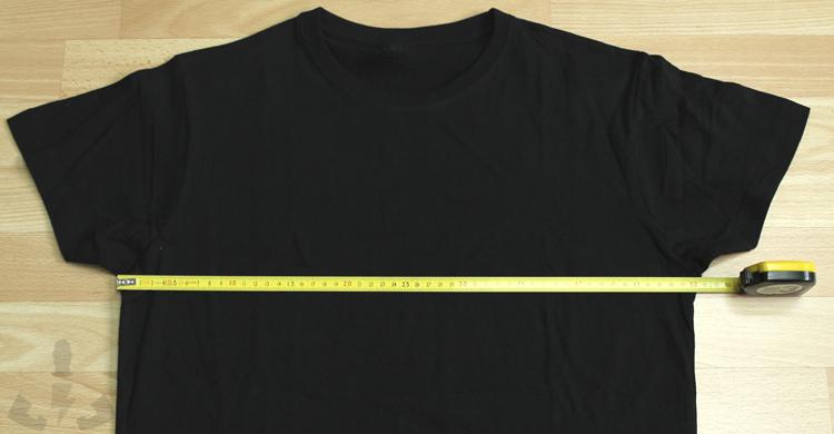 Medir ancho de camisetas