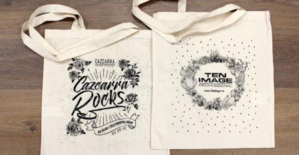 Imprimir serigrafía en bolsas de tela