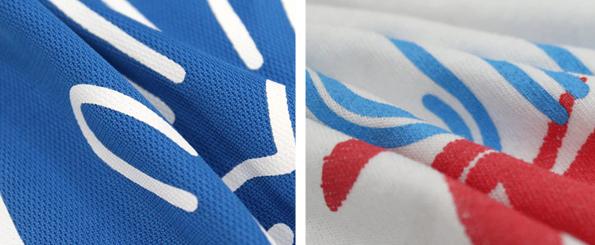 Camisetas de poliester o de algodon