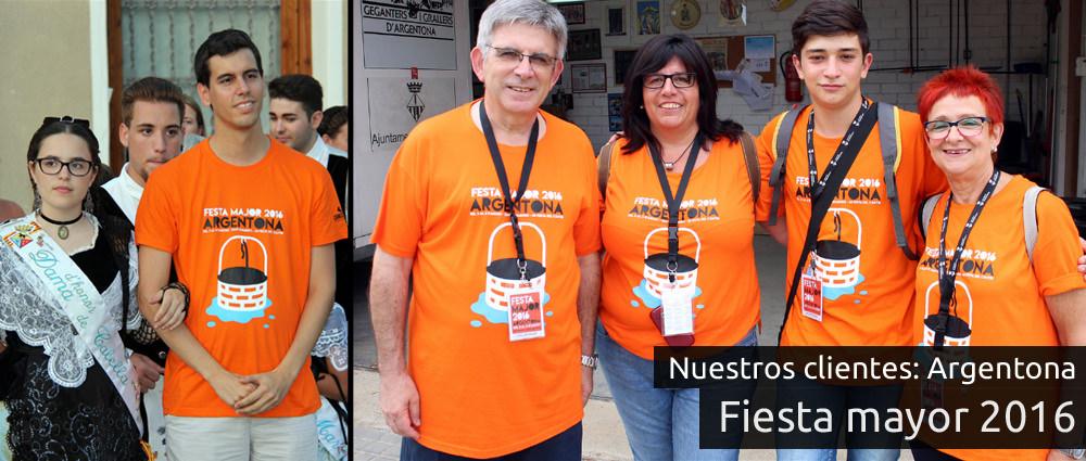 Camisetas para fiestas populares de Argentona
