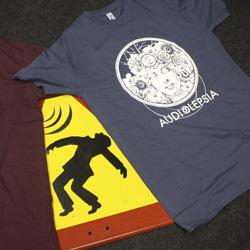 Diseño de camisetas para Audiolepsia.