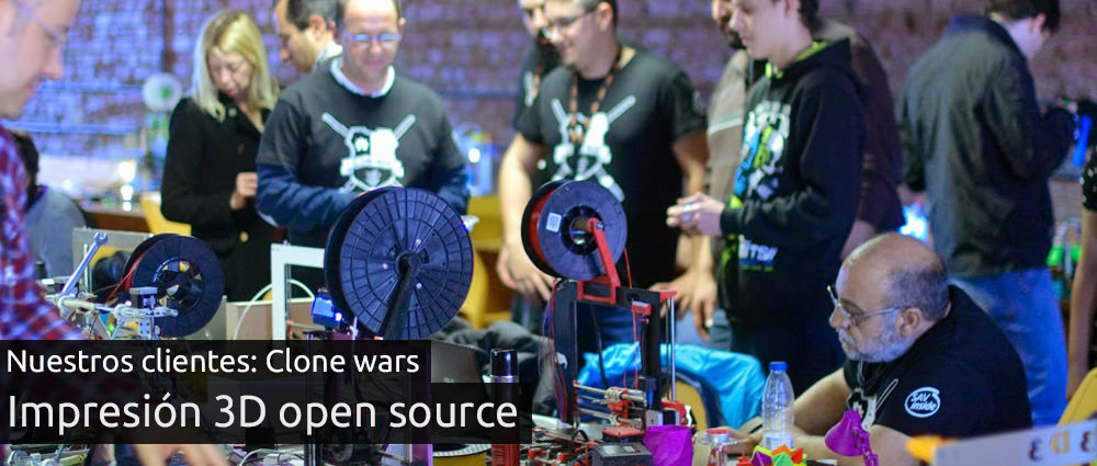 Impresoras 3D de CloneWars, open source