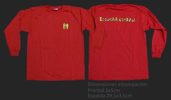Camiseta manga larga personalizada para escucha español