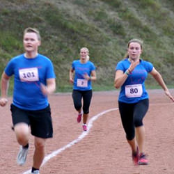 Miembros de Runner's High entrenando