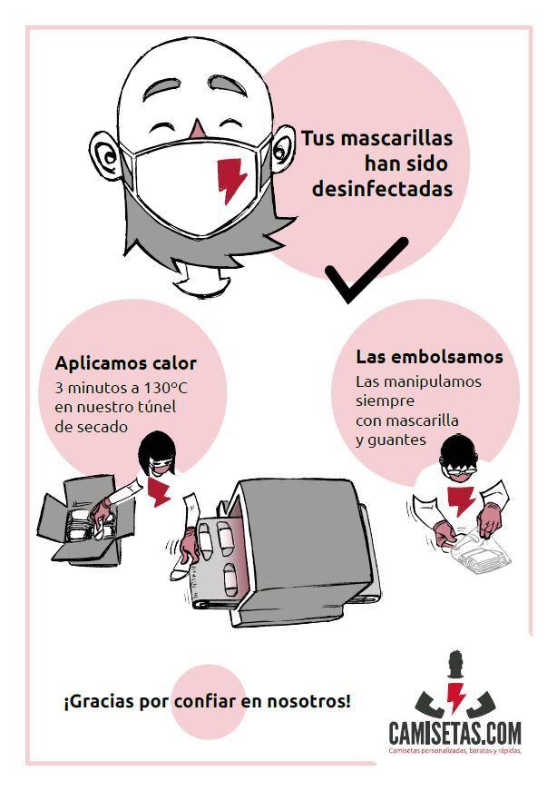 Higienizar mascarillas