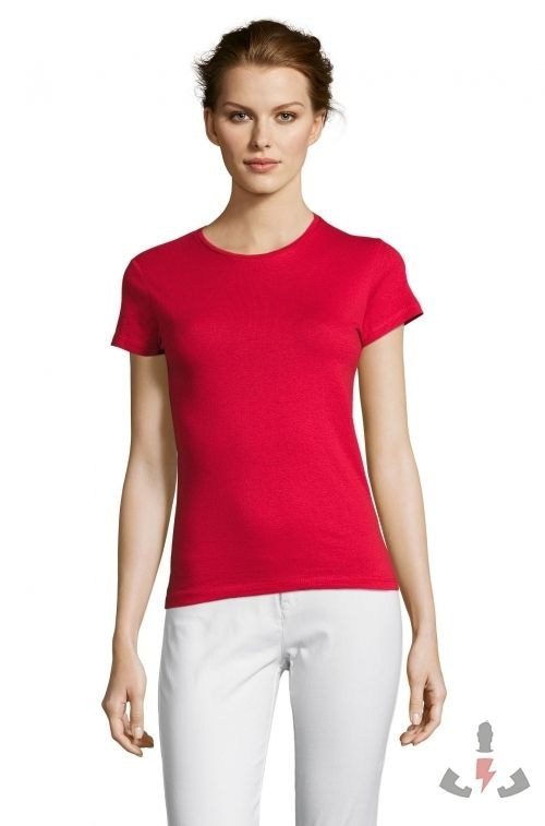 Camisetas Miss Color Rojo 145