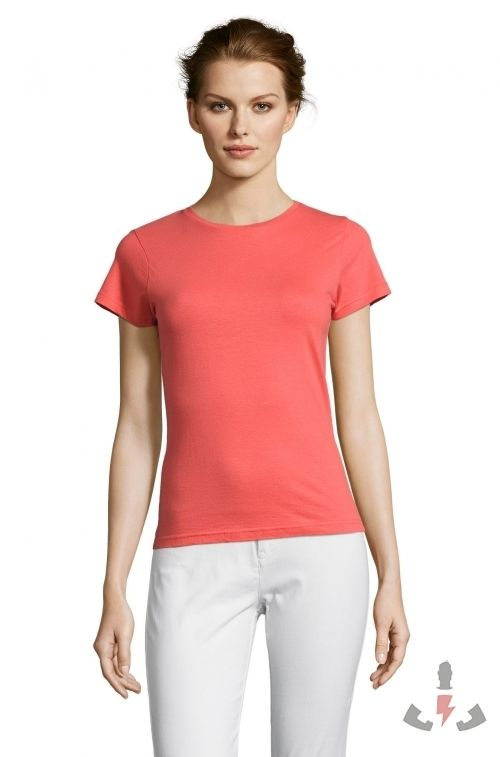 Camisetas Miss Color Coral 158