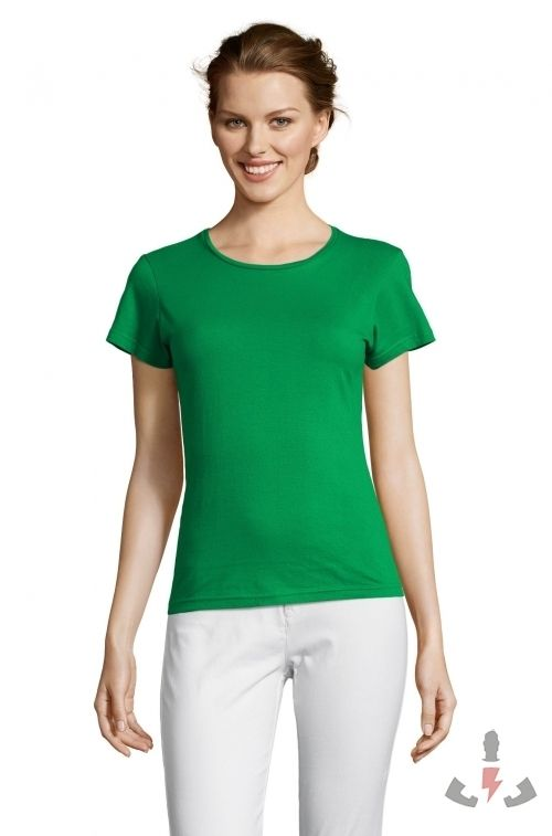 Camisetas Miss Color Verde pradera 272