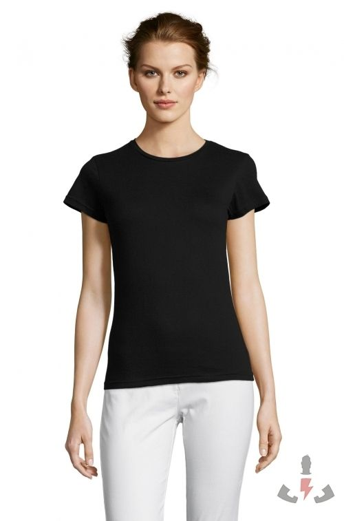 Camisetas Miss Color Deep black 309