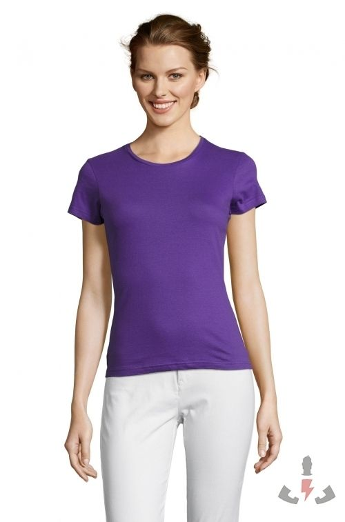 Camisetas Miss Color Morado oscuro 712