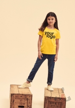 Camisetas infantiles Fruit-of-the-Loom Iconic T Niña 61-025-0