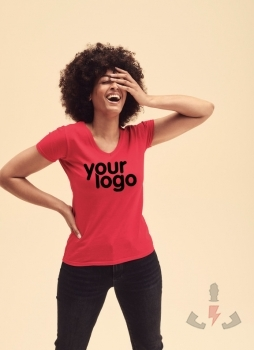 Camisetas Fruit-of-the-Loom Value Cuello V Lady 61-398-0