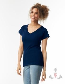 Camisetas para ellas Gildan Soft style cuello V W 64V00L