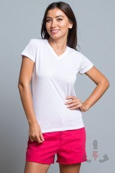 Camisetas para ellas JHK Subli Comfort Cuello V W SBTSLCMFP