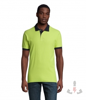 Color 924 (Apple green / French navy)