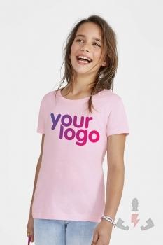 Camisetas infantiles Sols Cherry niña 11981